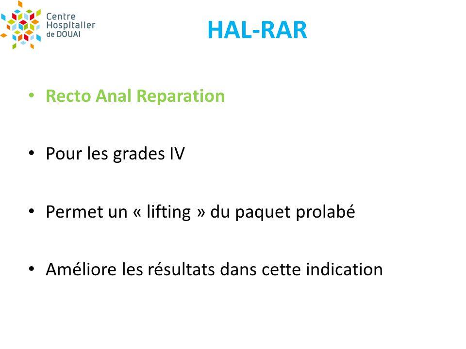 HAL-RAR Recto Anal Reparation Pour les grades IV