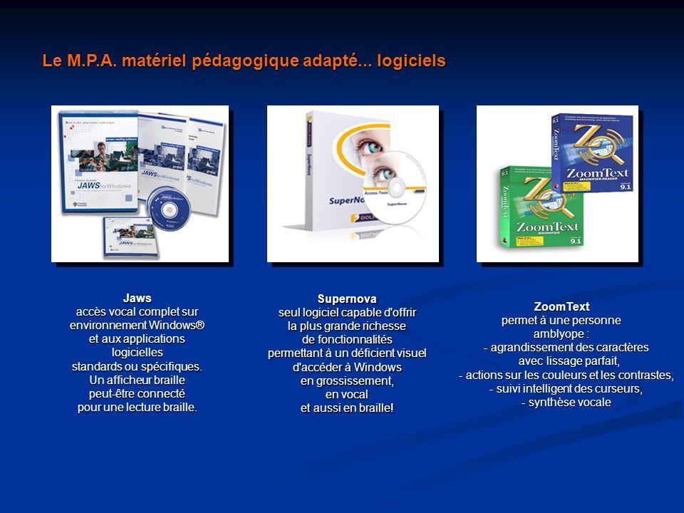 Le M.P.A. matériel pédagogique adapté... logiciels