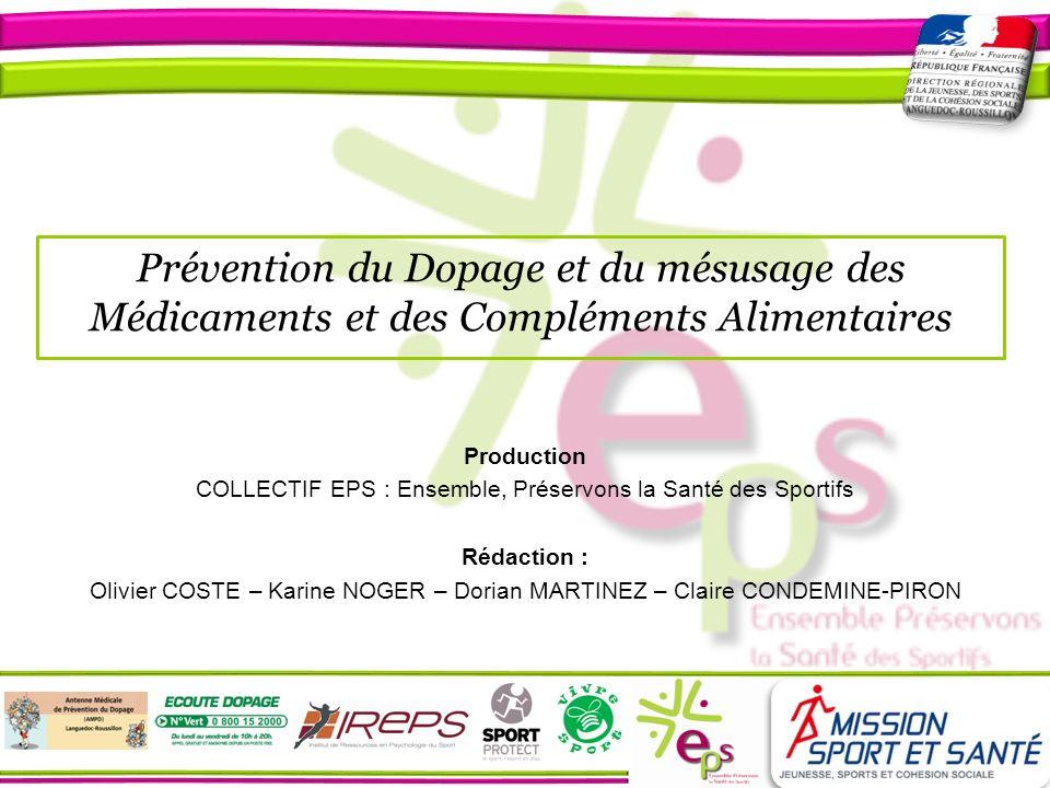 COLLECTIF EPS : Ensemble, Préservons la Santé des Sportifs
