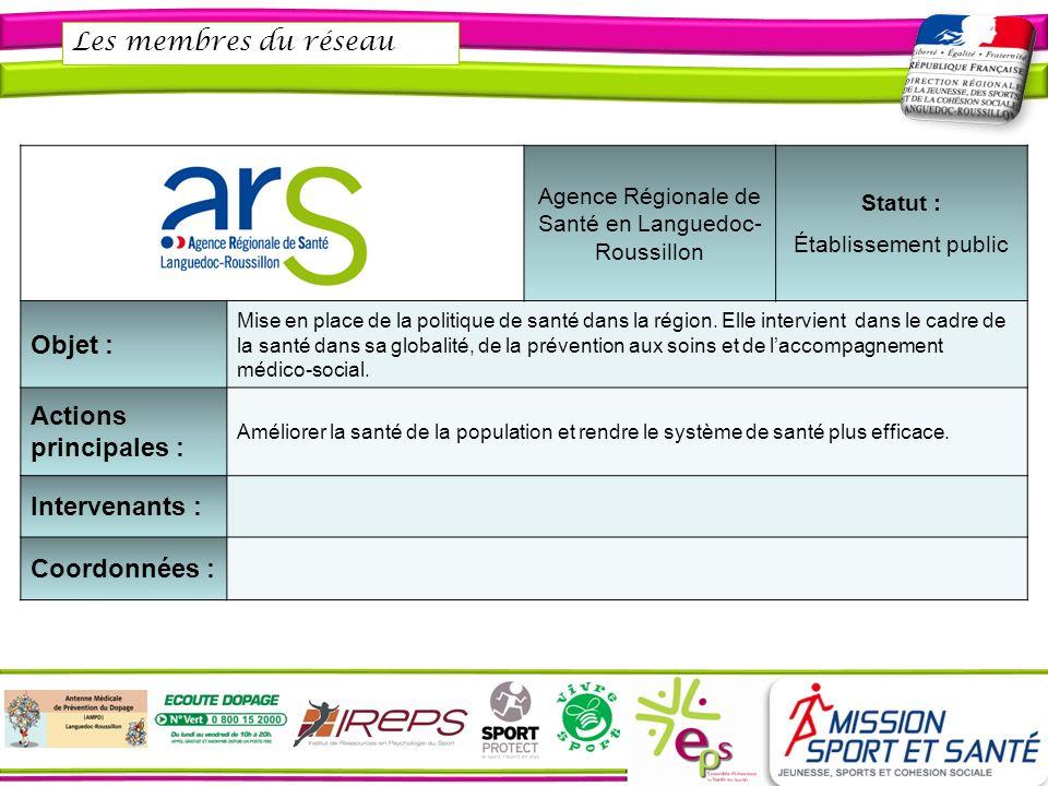 Agence Régionale de Santé en Languedoc-Roussillon