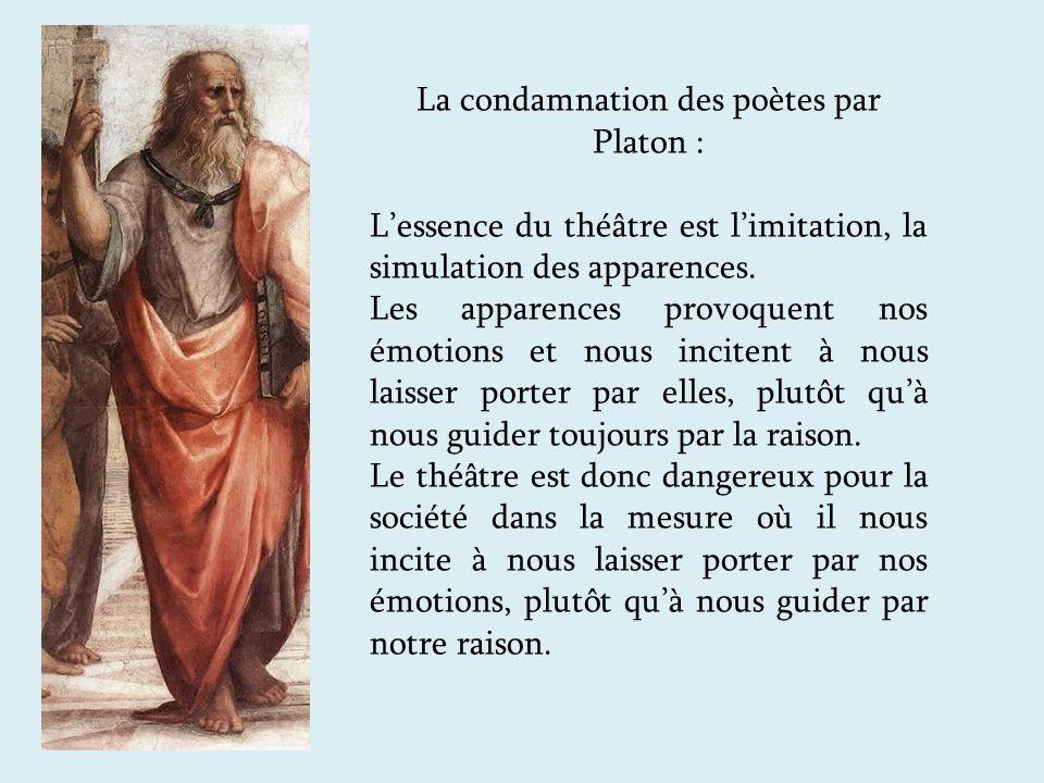 La condamnation des poètes par Platon :