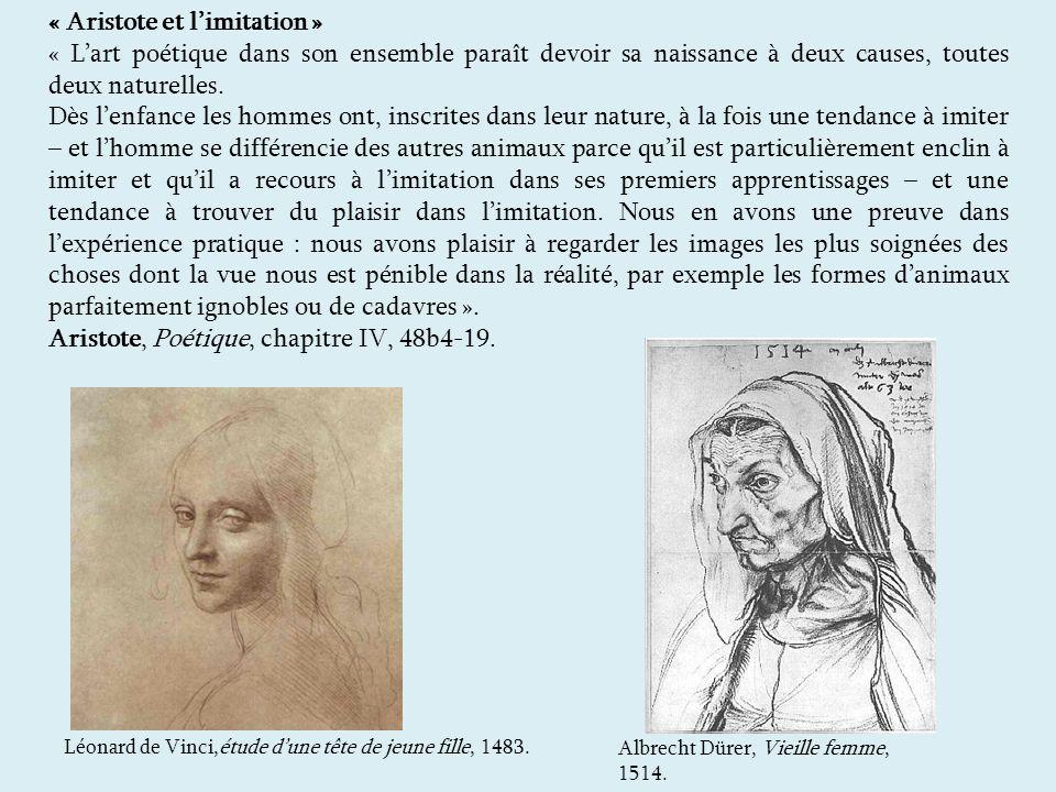 « Aristote et l'imitation »
