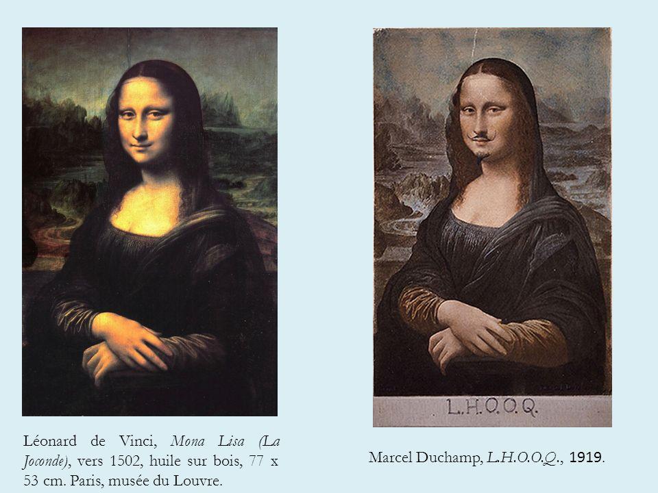 Léonard de Vinci, Mona Lisa (La Joconde), vers 1502, huile sur bois, 77 x 53 cm. Paris, musée du Louvre.