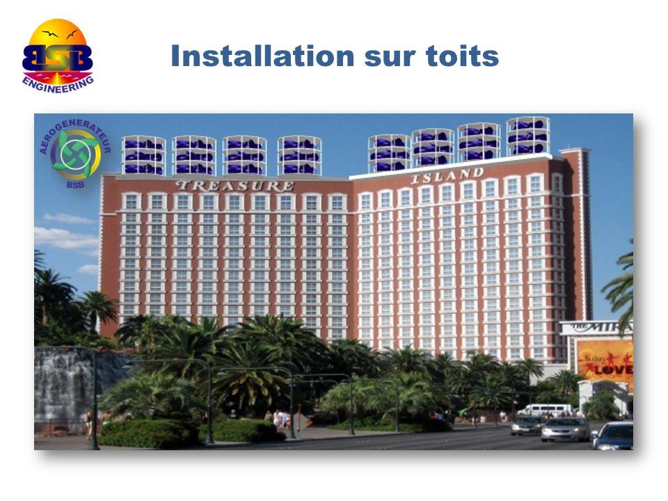 Installation sur toits