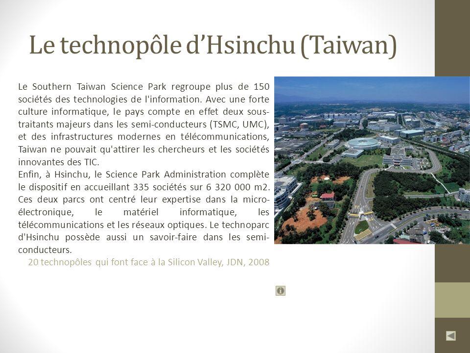 Le technopôle d'Hsinchu (Taiwan)