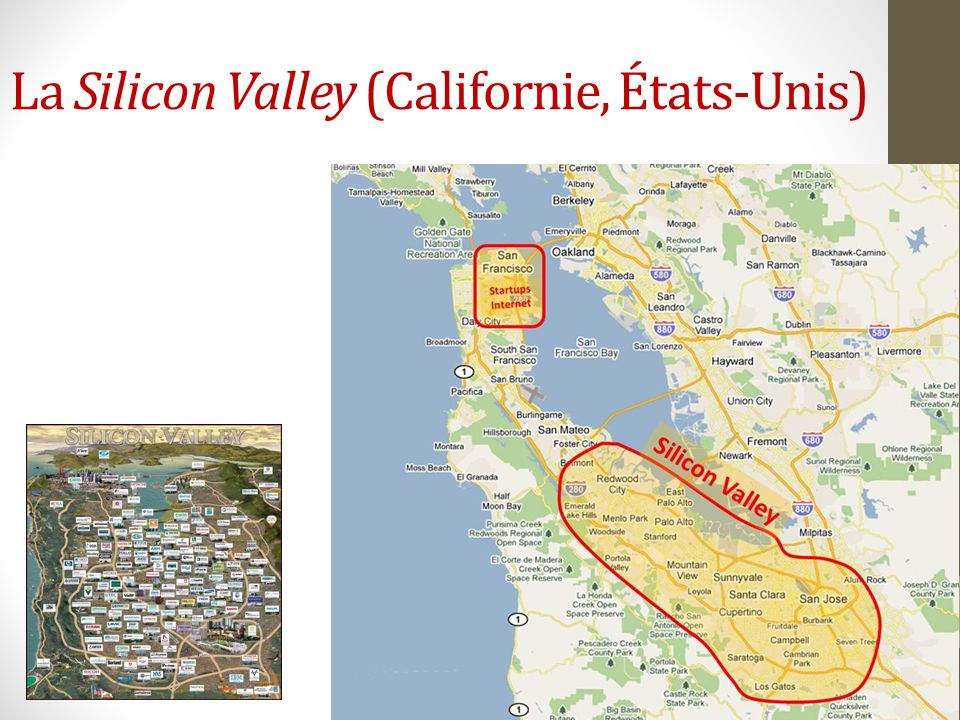 La Silicon Valley (Californie, États-Unis)