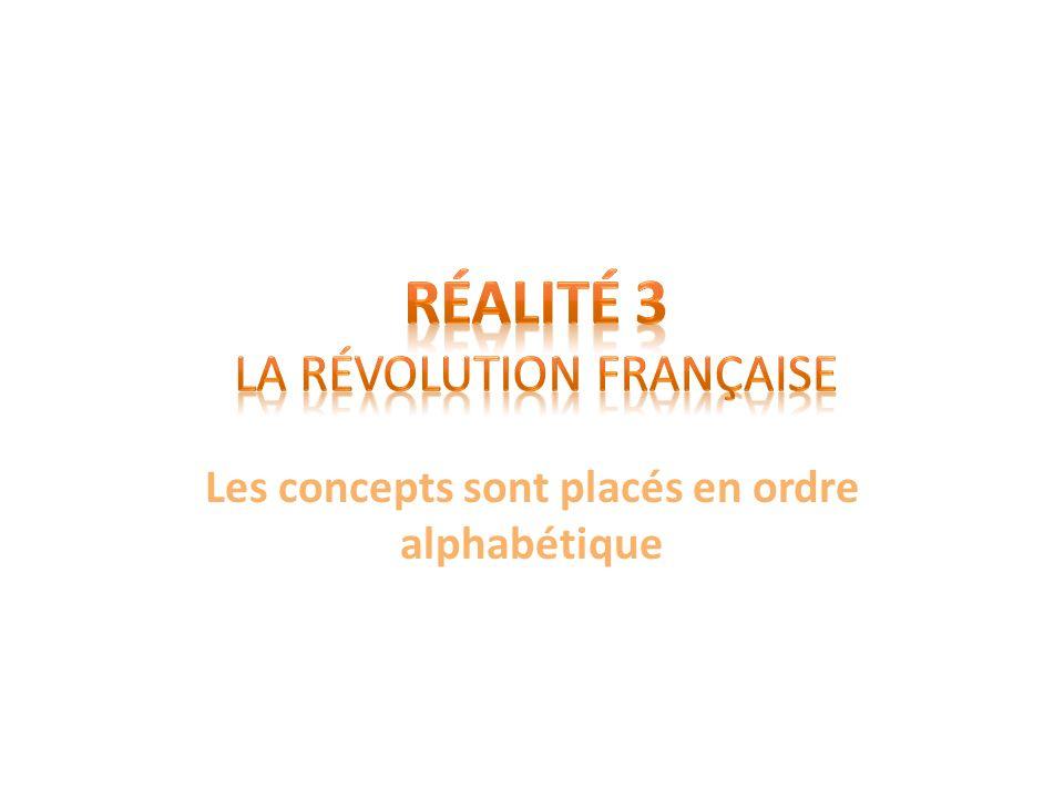 Réalité 3 La Révolution française