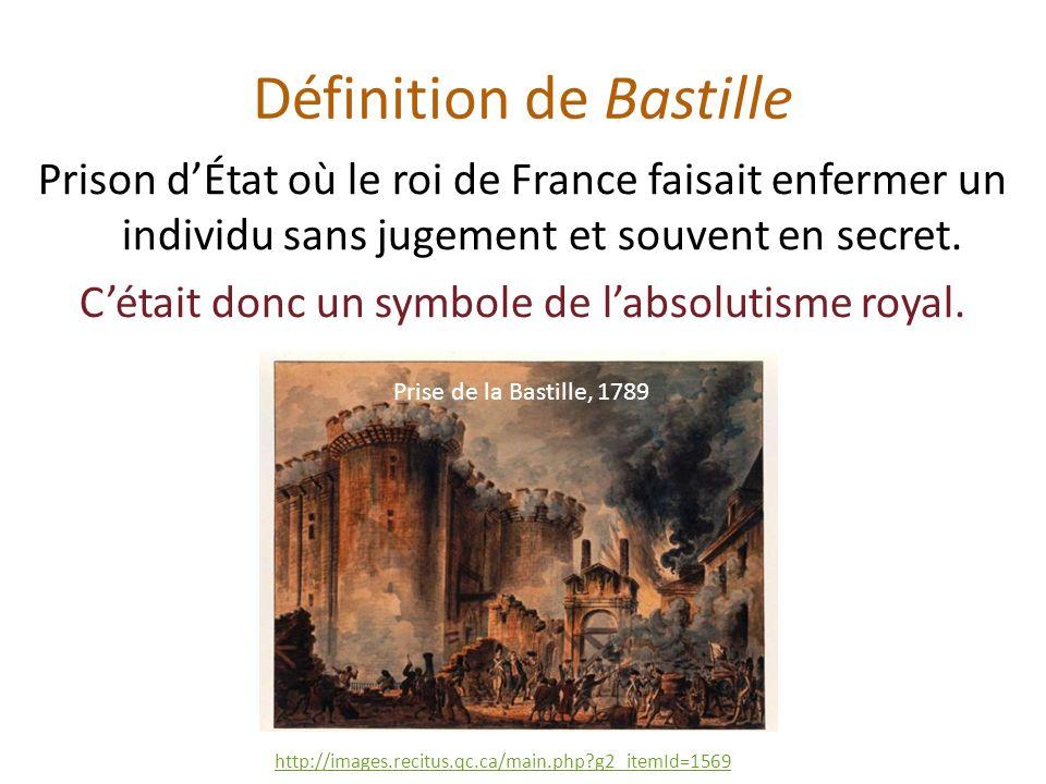 Définition de Bastille
