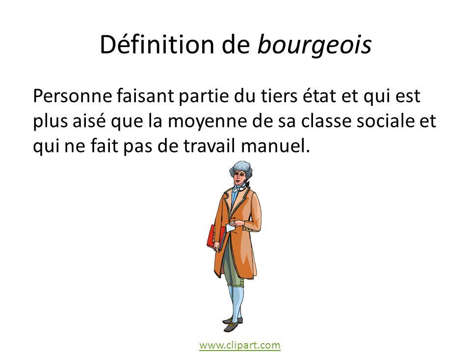 Définition de bourgeois