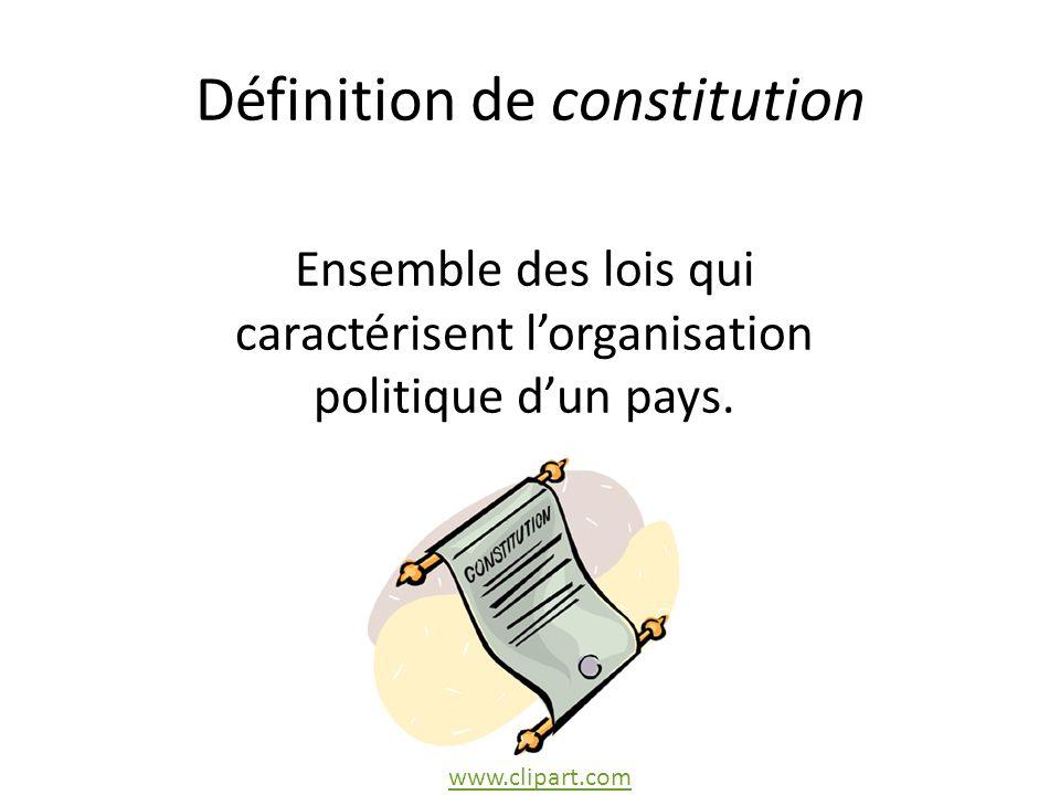 Définition de constitution