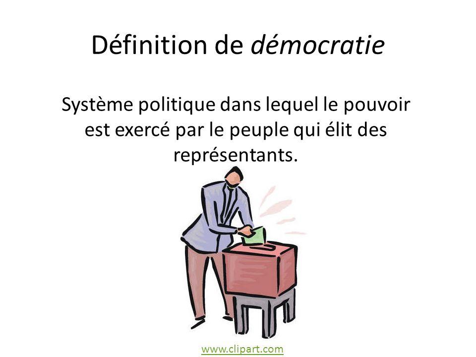 Définition de démocratie