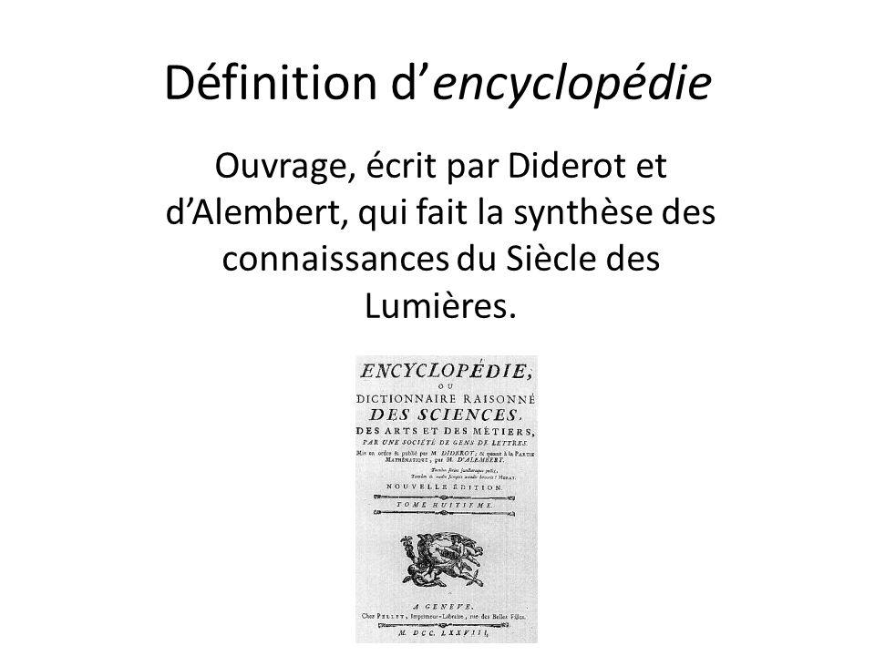 Définition d'encyclopédie