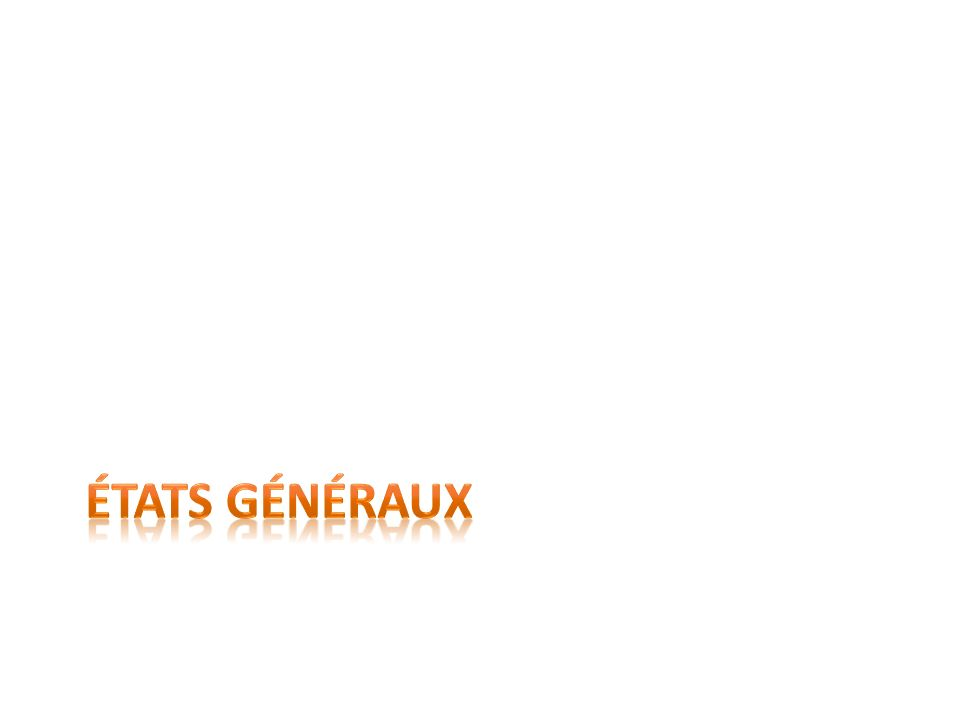 États généraux