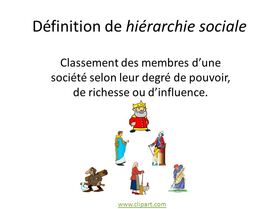 Définition de hiérarchie sociale