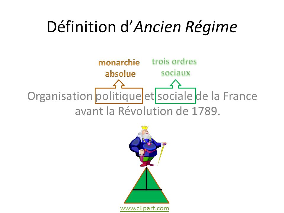 Définition d'Ancien Régime
