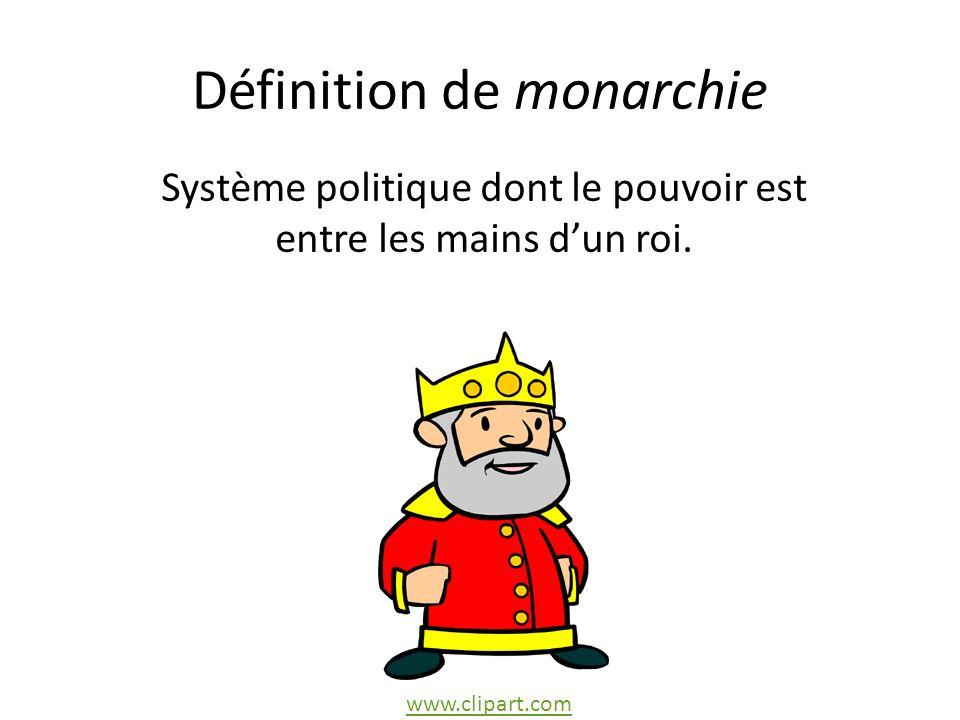 Définition de monarchie