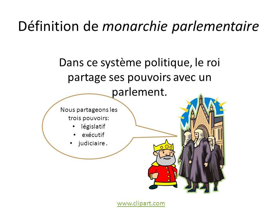 Définition de monarchie parlementaire