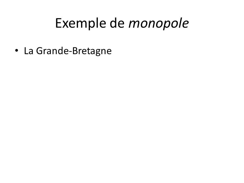 Exemple de monopole La Grande-Bretagne