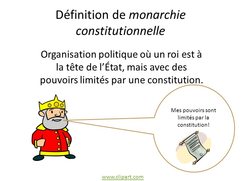 Définition de monarchie constitutionnelle
