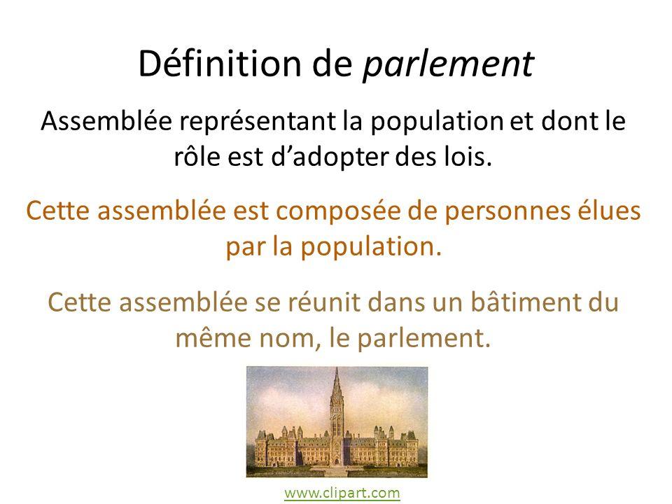 Définition de parlement