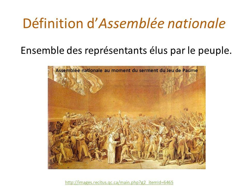 Définition d'Assemblée nationale