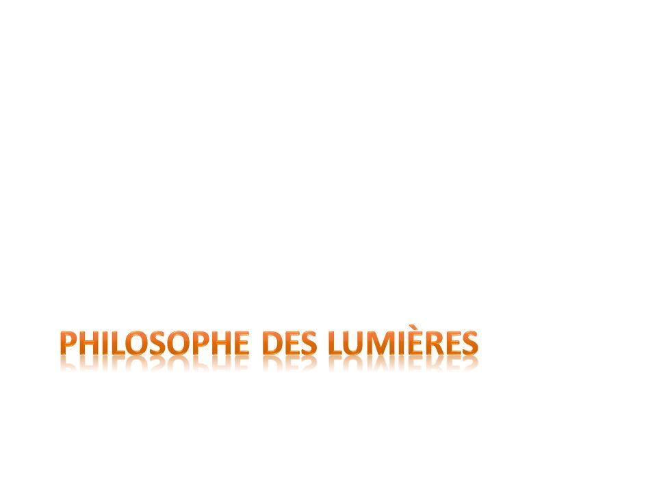 Philosophe des Lumières