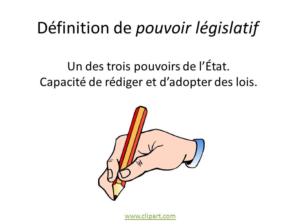 Définition de pouvoir législatif