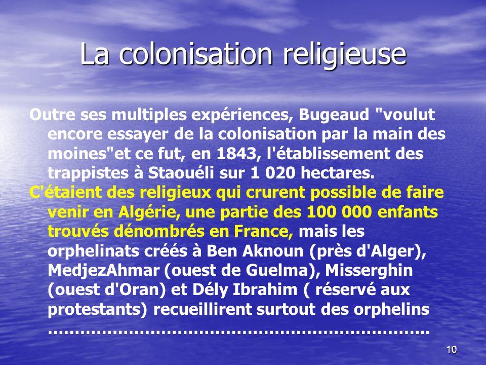 La colonisation religieuse