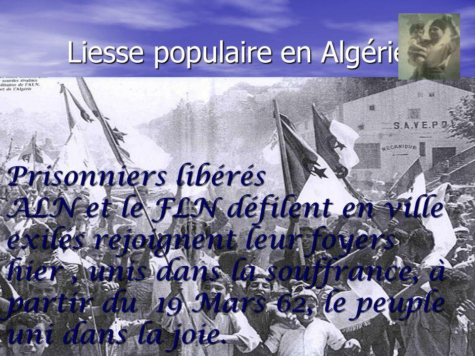 Liesse populaire en Algérie