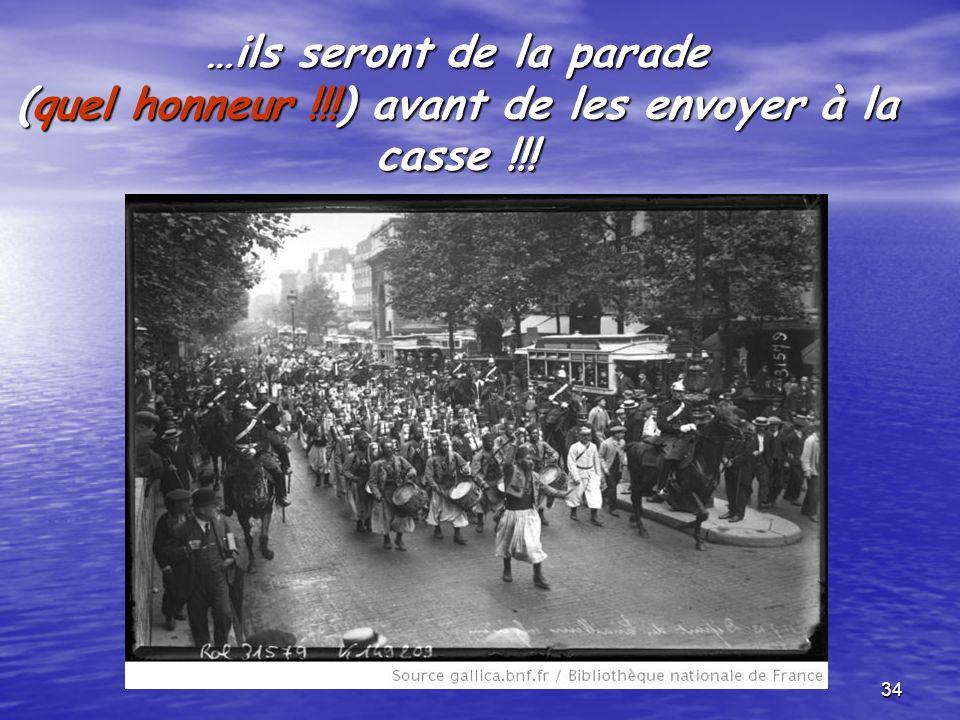 …ils seront de la parade (quel honneur
