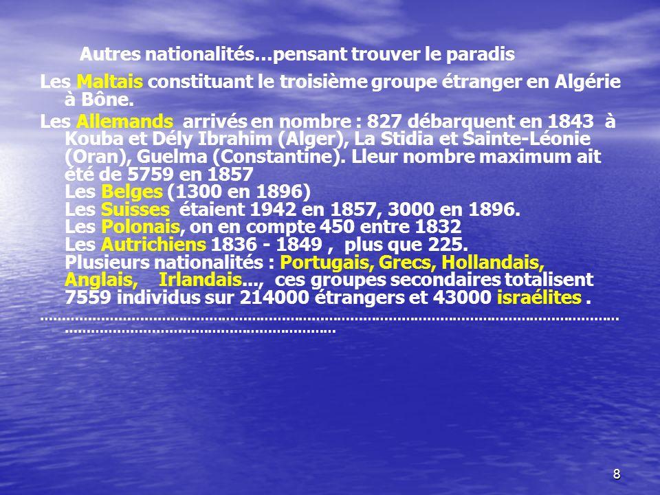 Autres nationalités…pensant trouver le paradis