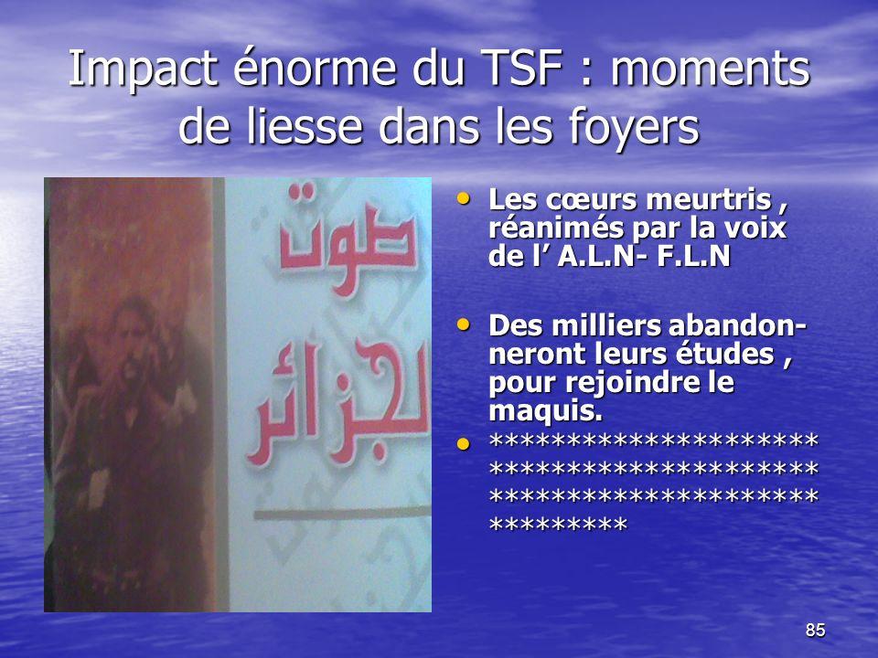Impact énorme du TSF : moments de liesse dans les foyers