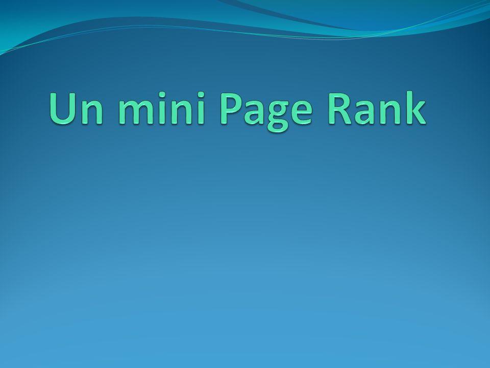 Un mini Page Rank