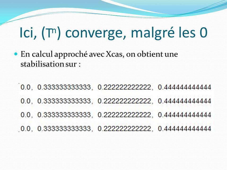 Ici, (Tn) converge, malgré les 0