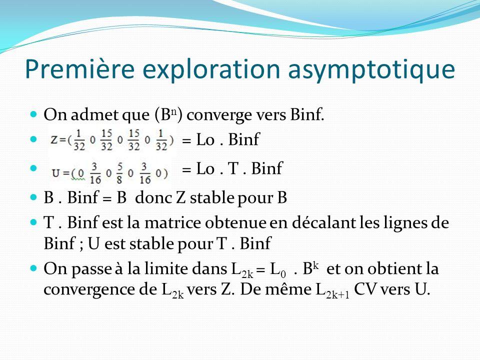 Première exploration asymptotique