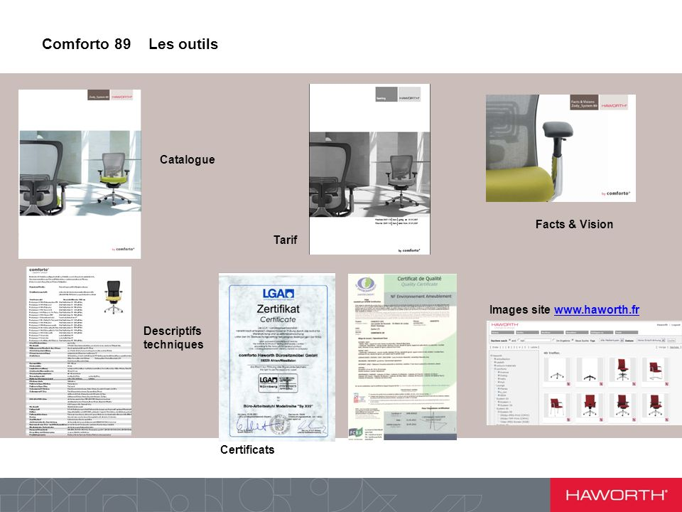 Comforto 89 Les outils Catalogue Facts & Vision Tarif