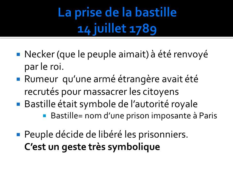 La prise de la bastille 14 juillet 1789