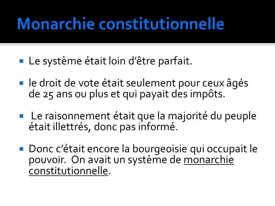 Monarchie constitutionnelle