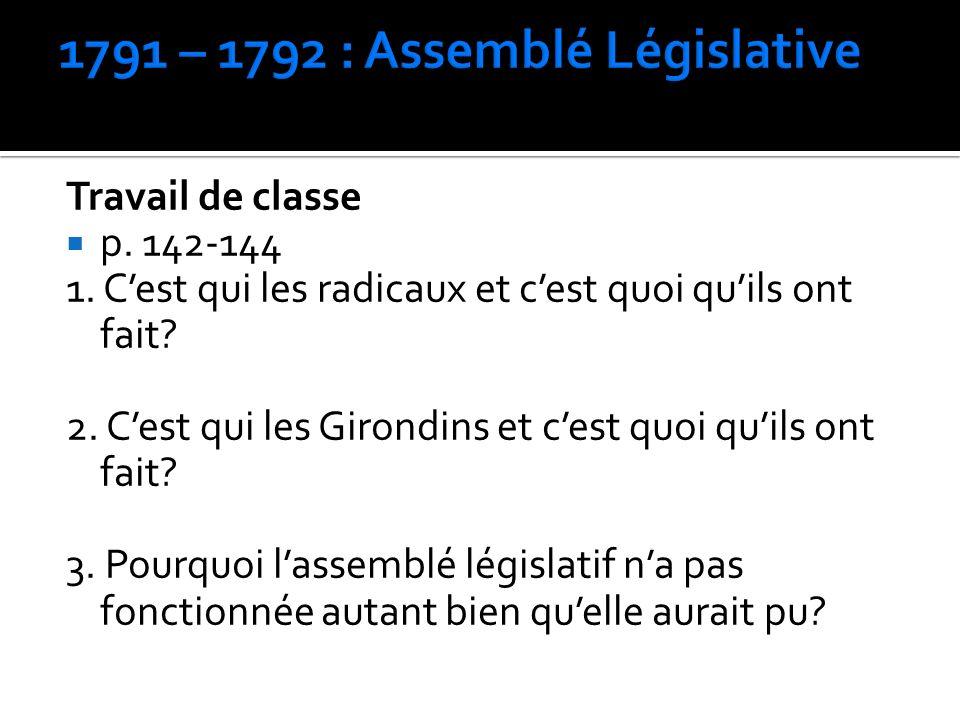 1791 – 1792 : Assemblé Législative