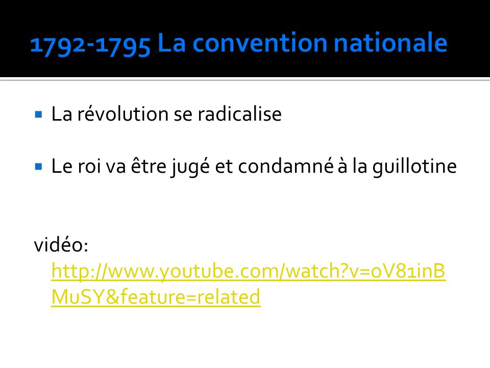 1792-1795 La convention nationale