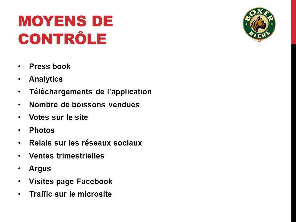Moyens de contrôle Press book Analytics