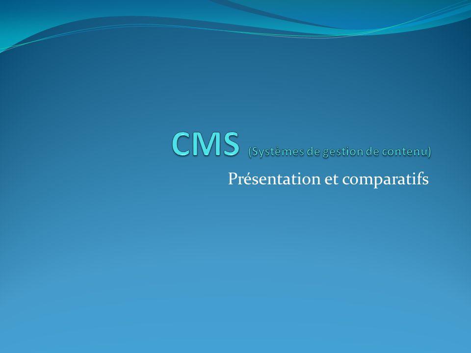 CMS (Systèmes de gestion de contenu)