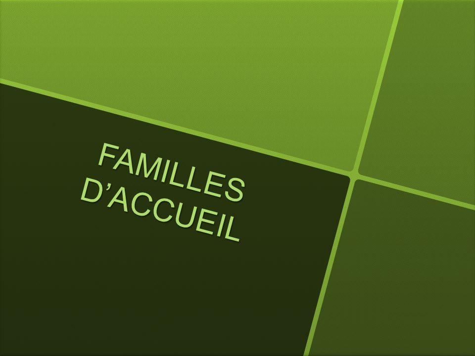 FAMILLES D'ACCUEIL