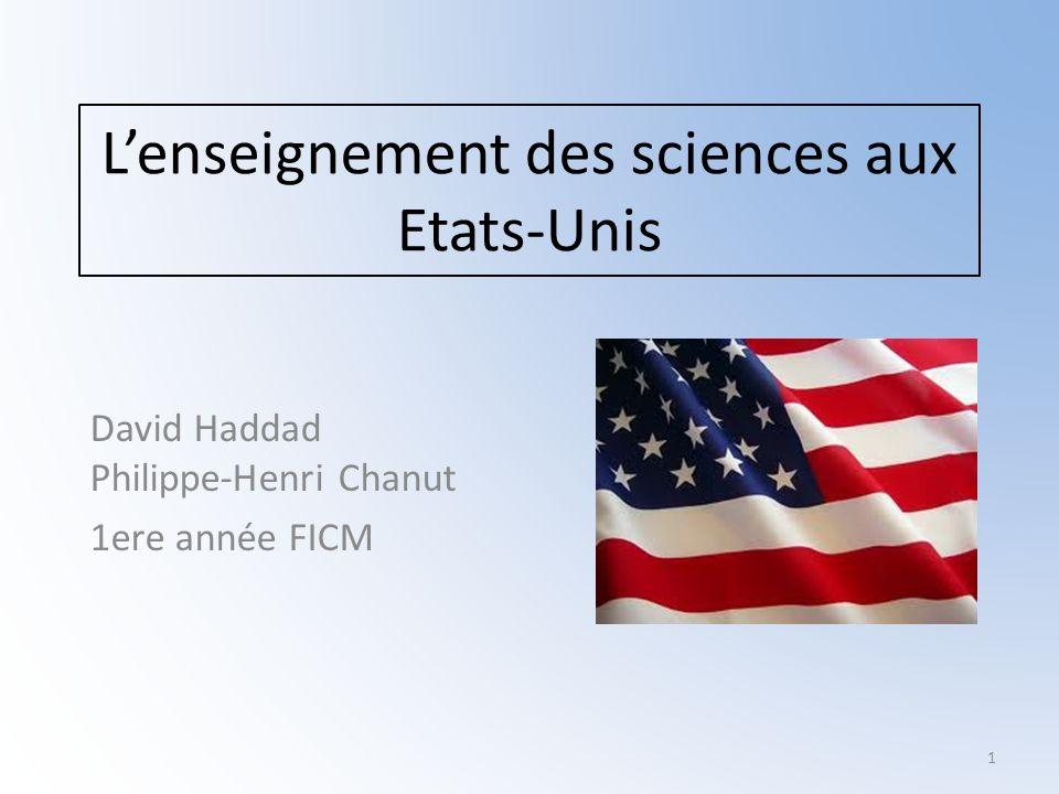 L'enseignement des sciences aux Etats-Unis
