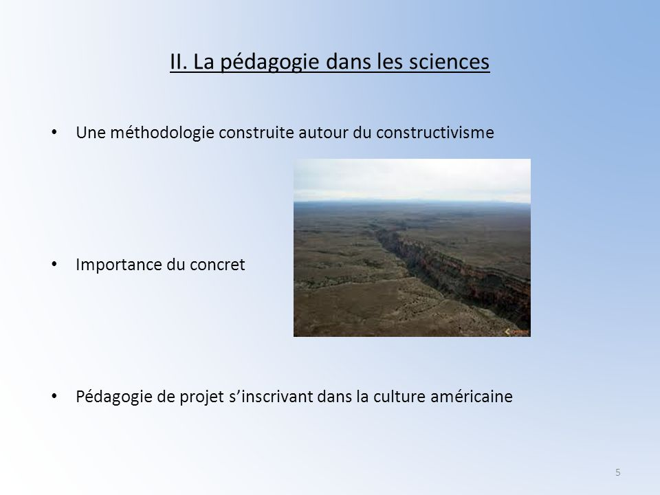 II. La pédagogie dans les sciences