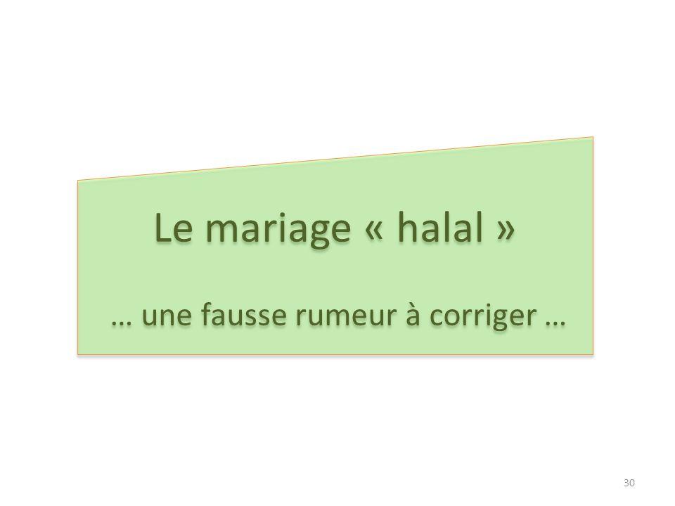 … une fausse rumeur à corriger …