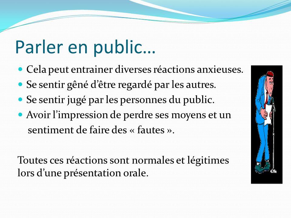Parler en public… Cela peut entrainer diverses réactions anxieuses.