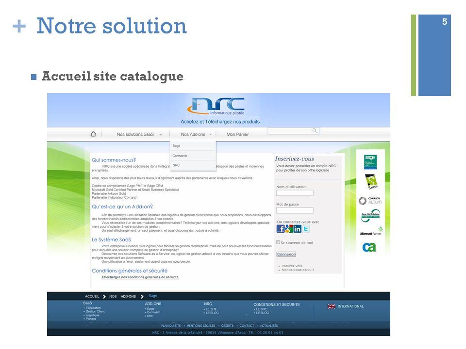 Notre solution Accueil site catalogue