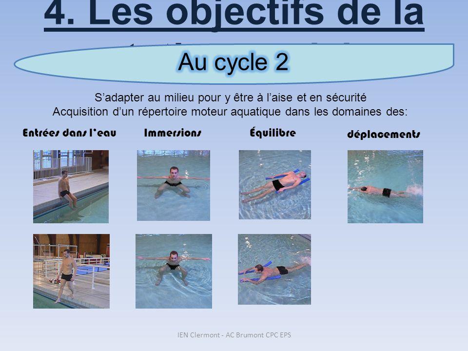 4. Les objectifs de la natation scolaire