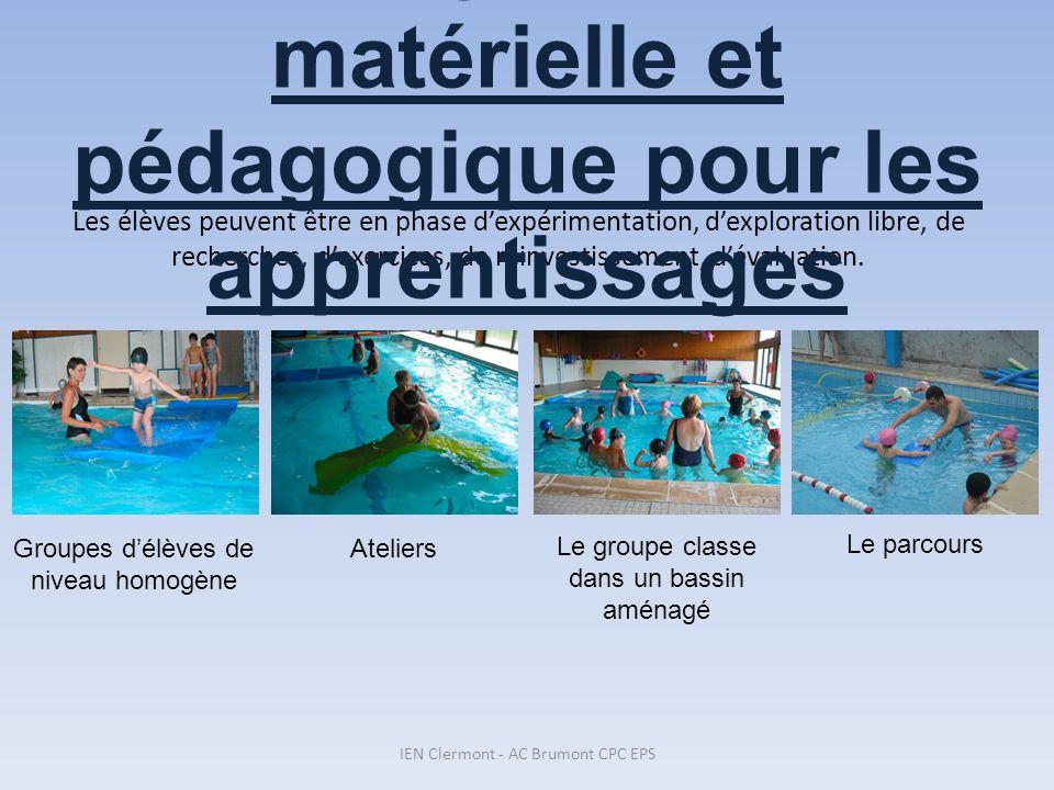 4. L'organisation matérielle et pédagogique pour les apprentissages